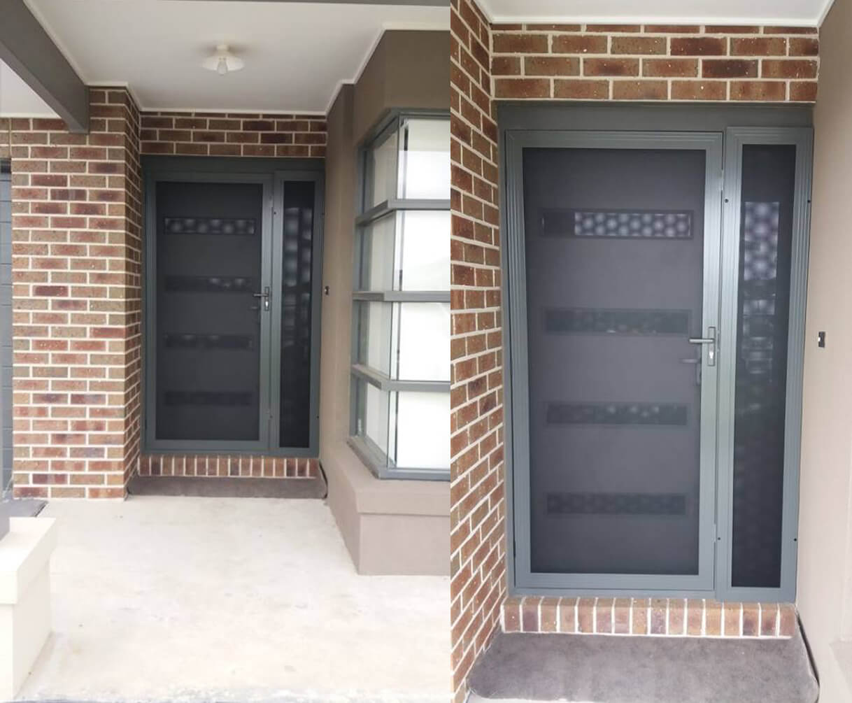Perforated Aluminium Security Doors